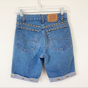 Vintage Levi's 720 Student High Rise Denim Shorts